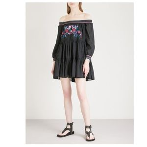 Free People Sun Beams Embroidered Peasant Dress
